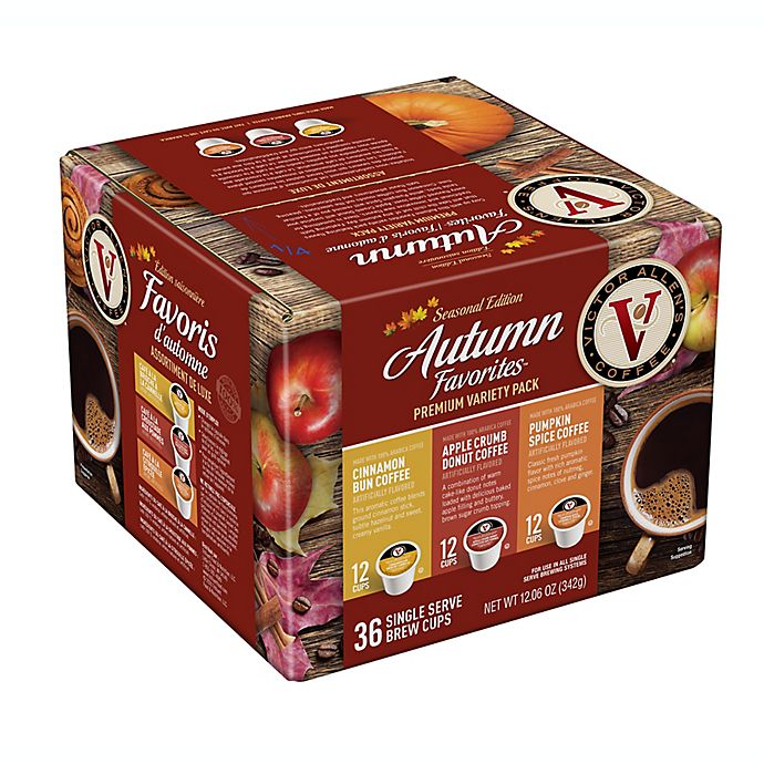Alternate image 1 for Victor Allen® Autumn Favorites Variety Pack Single Serve Coffee Pods 36-Count