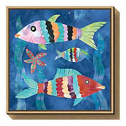 Boho Reef Fish I 16-inch Square Framed Wall Art