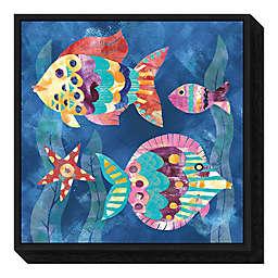 Boho Reef Fish II 16-inch Square Framed Wall Art