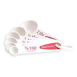 Betty Crocker 6-Piece Measuring Spoon Set in White