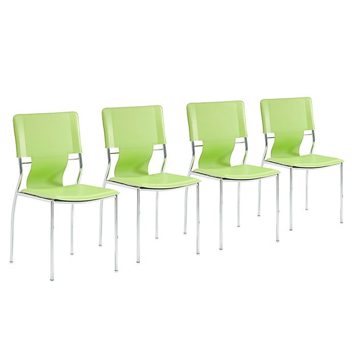 Wondrous Zuo Modern Trafico Dining Chairs Set Of 4 Bed Bath Beyond Andrewgaddart Wooden Chair Designs For Living Room Andrewgaddartcom