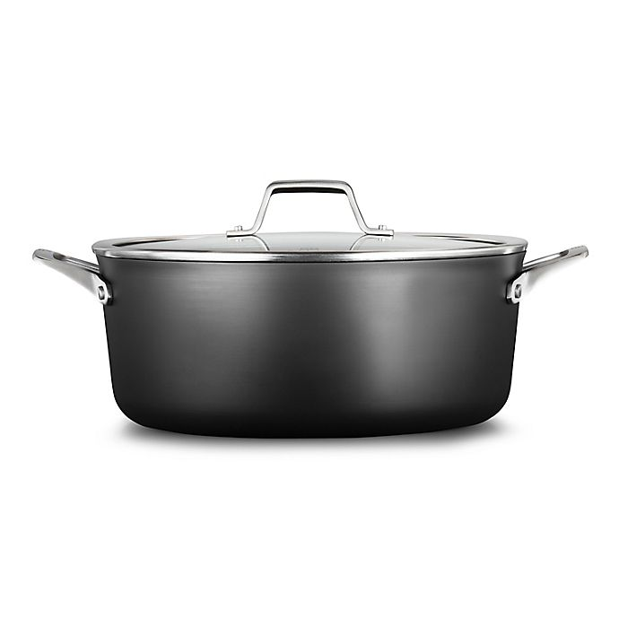 Alternate image 1 for Calphalon® Premier™ Hard-Anodized Nonstick 8.5 qt. Covered Dutch Oven