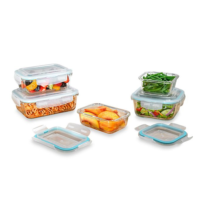 Alternate image 1 for Pro Glass 10-Piece Food Storage Set with Easy Snap Lids