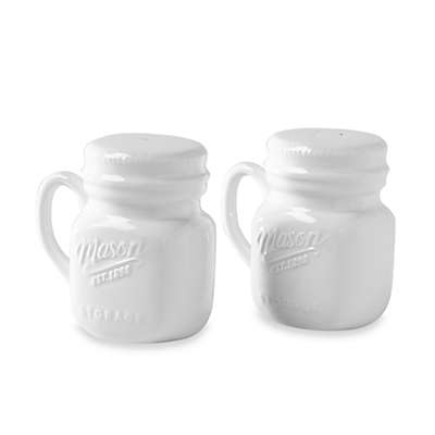 Mason Porcelain Salt and Pepper Shakers