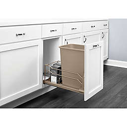 Rev-A-Shelf® Single Pull-Out Waste Container with Soft-Close Slides