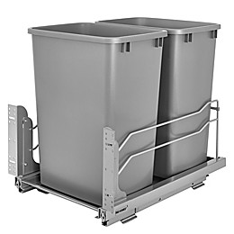 Rev-A-Shelf® Double Pull-Out Waste Container with Soft-Close Slides