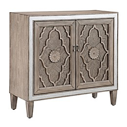 Madison Park Annalise 2-Door Accent Cabinet in Natural