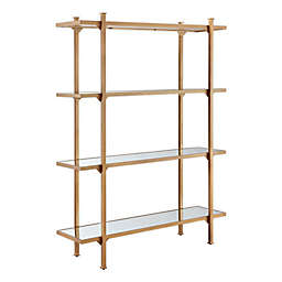 Madison Park Adelaide Bookcase in Antique Gold