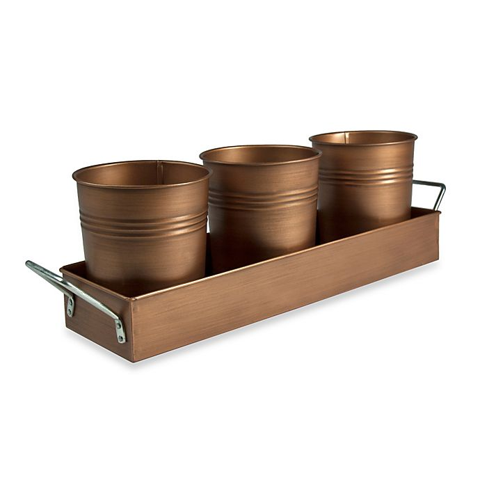Alternate image 1 for Artland® Oasis Picnic Caddy in Antique Copper