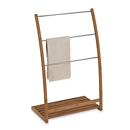 EcoStyles Bamboo Free Standing Towel Stand