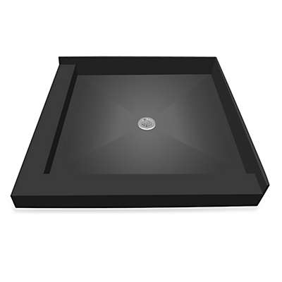 Tile Redi® Redi Base® Left Double Curb Shower Pan with Center Drain