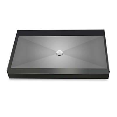 Redi Base™ 37-Inch x 60-Inch Single Curb Shower Pan with Center Drain