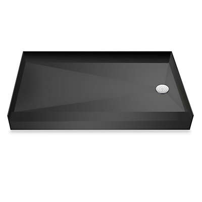 Tile Redi USA® Redi Base® Single Curb Shower Pan with 13-Inch Right Drain