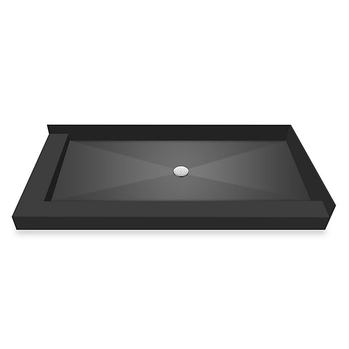 Alternate image 1 for Redi Base® 30-Inch x 60-Inch Left Double Curb Shower Pan with Center Drain