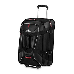 High Sierra AT-7 22-Inch Carry On Wheeled Convertible Backpack and Duffle in Black