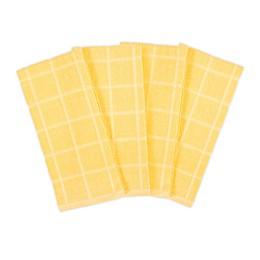 KitchenSmart® Colors 4-Pack Solid Kitchen Towels