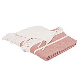 Safavieh Nila Throw Blanket in Mauve/Beige