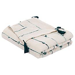 Safavieh Kingsley Throw Blanket in Beige/Teal