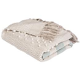 Safavieh Billi Throw Blanket in Beige/Teal