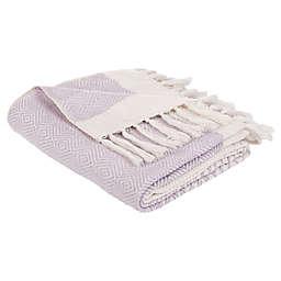 Safavieh Kayra Fringe Throw Blanket in Purple/Beige