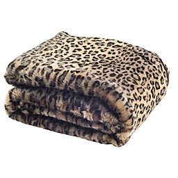 Safavieh Faux Black Leopard Throw Blanket