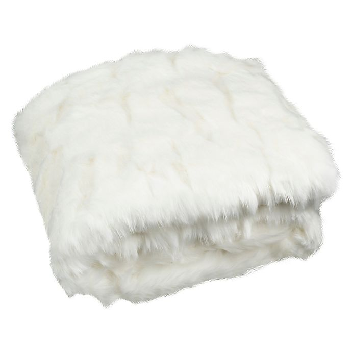 Alternate image 1 for Safavieh Textured Throw Blanket in Snow White