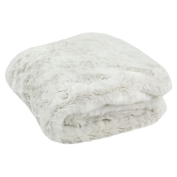 Alternate image 1 for Safavieh Faux Chinchilla Throw Blanket