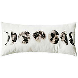 Global Caravan Moon Oblong Throw Pillow in White/Grey