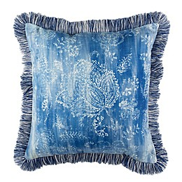 Safavieh Kayden Square Throw Pillow in Blue/Cream