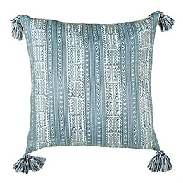 Safavieh Lunette Square Throw Pillow in White/Grey