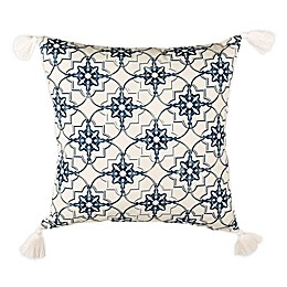 Safavieh Mariella Square Throw Pillow in White/Blue