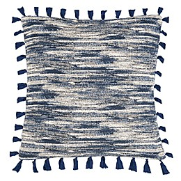 Safavieh Marni Square Throw Pillow in Blue/Creme