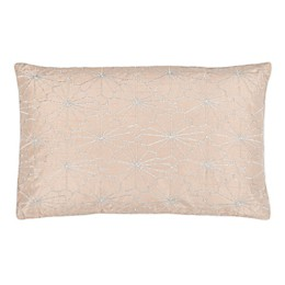 Safavieh Nisha Oblong Throw Pillow in Champagne/Silver