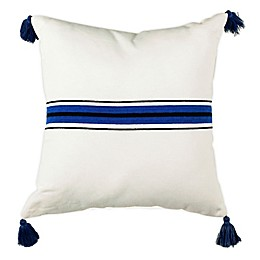 Safavieh Orlanda Square Throw Pillow in White/Navy