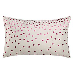 Safavieh Confetti Love Oblong Throw Pillow in Pink/Grey