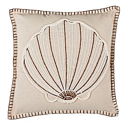 Safavieh Della Seashell Square Throw Pillow in Natural