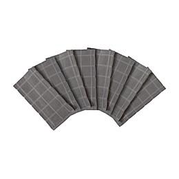 KitchenSmart® Colors 2 Solid Kitchen Towels in Grey (Set of 8)