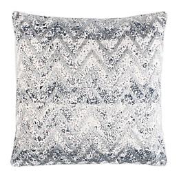 Safavieh Remma Square Throw Pillow in Navy/White