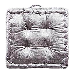 Safavieh Peony Square Tufted Floor Cushion in Grey