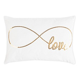Safavieh Infinite Love Oblong Throw Pillow in Gold/Cream