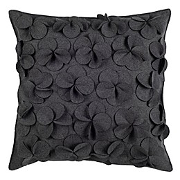 Safavieh Siena Floral Applique Square Throw Pillow in Grey
