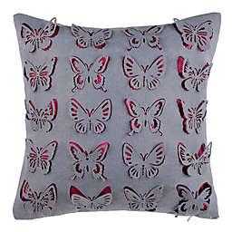Safavieh Wonderlous Wings Square Throw Pillow in Purple/Pink