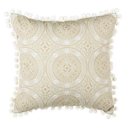 Safavieh Valencia Square Throw Pillow in Taupe/Beige