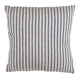 Safavieh Trina Striped Square Throw Pillow in Blue/Natural