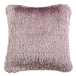Safavieh Venice Shag Square Throw Pillow in Lilac