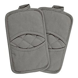 KitchenSmart® Colors 2-Pack Solid Pocket Pot Mitts