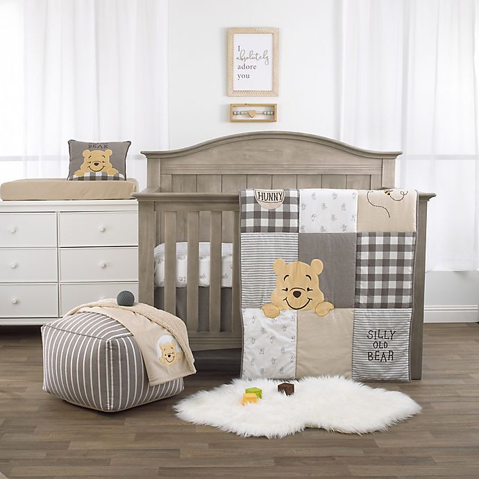 Alternate image 1 for Disney Winnie The Pooh Hunny & Me 3-Piece Crib Bedding Set in Grey