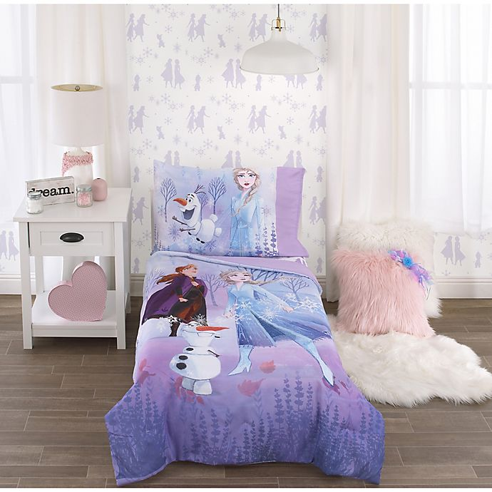 Alternate image 1 for Disney Frozen 2 4-Piece Toddler Comforter Bedding Set in Lavender