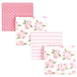 Little Treasure™ 4-Pack Floral Flannel Receiving Blankets in Pink