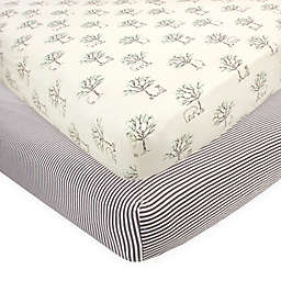 Touched by Nature 2-Pack Birch Fitted Crib Sheets in Beige